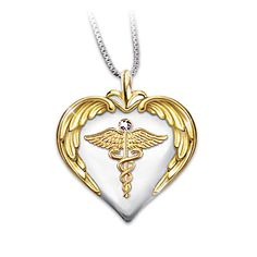 Nurse's Serenity Prayer Diamond Pendant Necklace. #wishlist #codehappystore