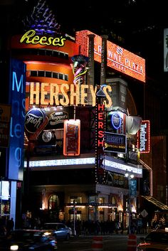 "The new ""American Mall"" Broadway, NYC. Hershey's Times Square"