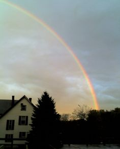 A rainbow in Leominster, MA.