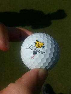 """September 18, 2013: """"One of our Brand Ambassadors decided to let his creative side emerge...can you guess who?,"""" asked Titleist Africa (@TitleistAfrica). The answer is Neil Schietekat, whose name is pronounced """"skitty-cat."""""""