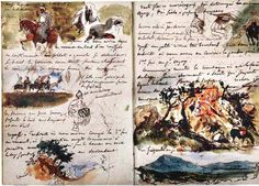 Delacroix - page from sketchbook