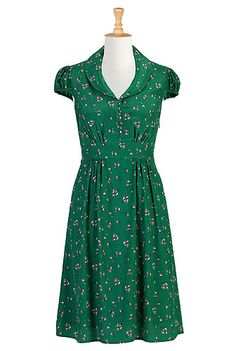eShakti The aviary shirtdress