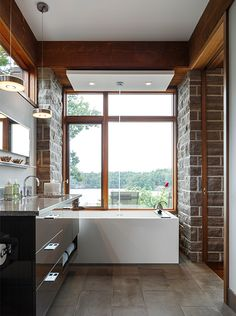 Kitchen & Bath Project in Rockport - Astro Design Ottawa contemporary-bathroom Contemporary Bathroom Lighting, Contemporary Bathroom Designs, Contemporary Decor, Bad Inspiration, Bathroom Inspiration, Bathroom Ideas, Mid Century Modern Bathroom, Bathroom Modern, Small Bathroom