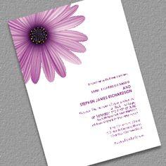 Fresh Daisy Wedding Invitation template