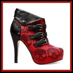 Iron Fist New Rider Womens Platform Heels Shoes Booties Buckles