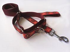 Obojek polostahovací + vodítko - výprodej - Patty Young ribbon by modkid