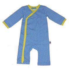 Knotsknetter - Froy & Dind baby jumpsuit 2 blauw/geel - Babykleding