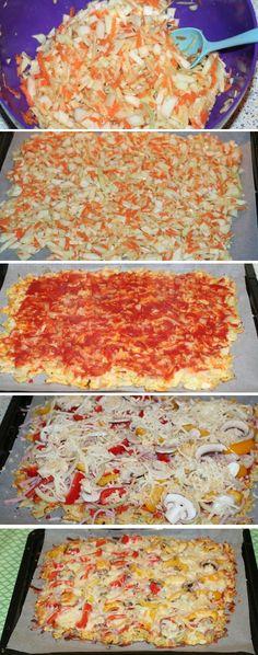Skift den hvide pizzabund ud med en paleobund af finthakket kål, rodfrugter og æg. Det gør pizzaen meget sundere, og den mætter også mere.