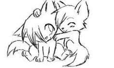 Pin by oOkaMi💕 on wolves <333 Animal drawings Cute drawings Cute cat drawing