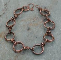 Antiqued Steampunk Industrial Patina Copper Charm by elizparodi, $28.00