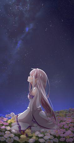 Admirando las estrellas para conmoverse un segundo y así contemplar las bellas estrellas del cielo azul