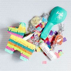 Adorable mini piñata.  You can send it in the mail with The Confetti Post.