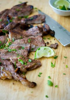 Rib eye steak marinated in cajun seasonings combined with fresh lime juice, honey and a light oil; then grilled to your liking.