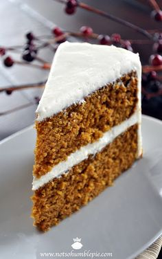 Not So Humble Pie: Pumpkin Spice Cake with Whipped Cream Cheese Frosting