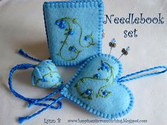 Happiness is Cross Stitching : Needlebooks - love the blue