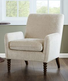 Look what I found on #zulily! Cream Floating Arm Chair by JLA Home #zulilyfinds