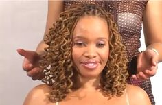 pipe cleaners and locs | Check out this video to see how this spiral curl look is created.