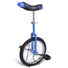 Special Offers - 16 Wheel Unicylce with Large Saddleadjustable Height from 28 to 32 with Unicycle Stand for Easy Storage (Blue) - In stock & Free Shipping. You can save more money! Check It (July 03 2016 at 02:16PM) >> http://cruiserbikeusa.net/16-wheel-unicylce-with-large-saddleadjustable-height-from-28-to-32-with-unicycle-stand-for-easy-storage-blue/