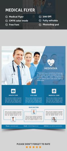 Medical health care free psd flyer template afis for Healthcare brochure templates