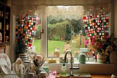 Patchwork Curtains.
