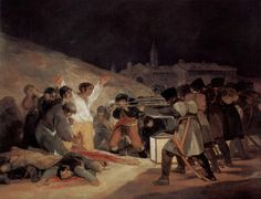 The Third Of May 1808 In Madrid The Executions on Principe Pio Hill 1814 Francisco Goya y Lucientes Spanish) Oil on canvas Museo del Prado Madrid Spain Canvas Art - Francisco de Goya Francisco Goya, Spanish Painters, Spanish Artists, Goya Paintings, Portrait Paintings, Art Romantique, Tableaux Vivants, Fine Art, Old Master