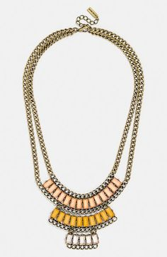 BaubleBar 'Pharaoh' Bib Necklace available at Big Hips, Personal Stylist, Body Shapes, Kitten Heels, Gold Necklace, Nordstrom, Women Jewelry, Chain, Bridesmaid Necklaces