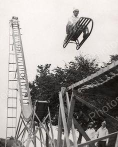 Dare Devil Slide Jump Vintage 8x10 Reprint Of Old Photo