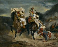 Eugène Delacroix French, 1798-1863, The Combat of the Giaour and Hassan