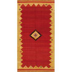 "Apadana Kilim Multi-Colored Tribal Medallion Rug | Wayfair 4'6"" x 8'10"""