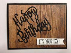 Happy Birthday Gorgeous, Happy Birthday Thinlits, Wood Textures Paper