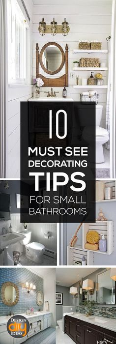 Decorating small bathrooms is a great way to show off an accept piece, or increase much-needed storage. Here are ten ways to decorate small bathrooms that really pack a punch.