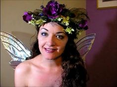 How to Make a Flower Fairy Wreath or Crown - really great tutorial