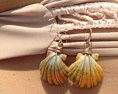 Handmade Sunrise Shell Earrings by TwoSistersHawaii on Etsy