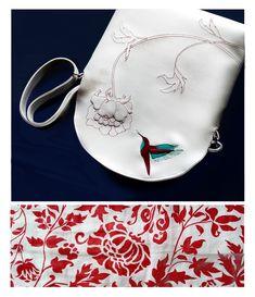 Special one for Ivana #hummingbird #kolibřík #bílá #white #bordo #vínová #handbag #kabelka #eatmefashion Heart Of Europe, Saddle Bags, Bag Accessories, Design