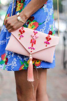 pink tassel