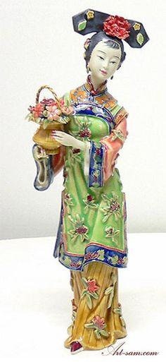 49620a7b8 Collectible Figurines | eBay. Ceramic FiguresCeramic ArtPorcelain Ceramics LotusChinese DollsChinese ...