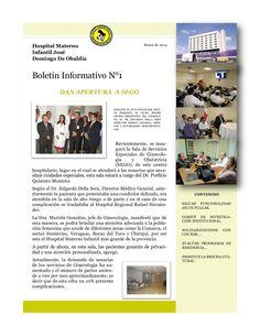 Boletín Informativo, correspondiente al mes de enero de 2013, del Hospital Materno Infantil José Domingo De Obaldía - Departamento de Relaciones Públicas by Alcibiades Batista Gonzalez via Slideshare