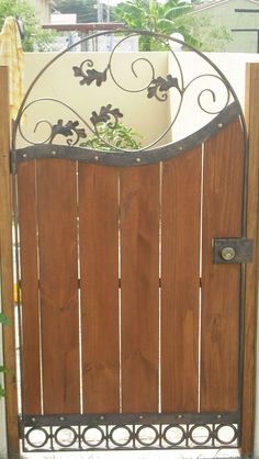 Wrought Iron Solid Plate Sliding Gate Wrought Iron Gates