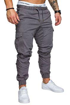 9b39cc24888fe0 Amaci&Sons Jogger Cargo Herren Chino Jeans Hose 7001 Schwarz W30:  Amazon.de