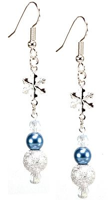 Jewelry Making Idea: Sparkle In the Snow Earrings (eebeads.com)