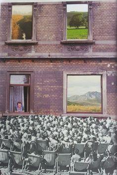 Regards © CARO-MA Collage papier COOL