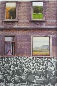 Regards © CARO-MA Collage papier