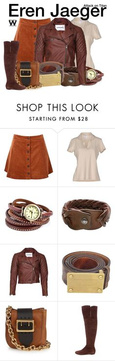 """""""Attack on Titan"""" by wearwhatyouwatch ❤ liked on Polyvore featuring Glamorous, Gran Sasso, HTC, VIPARO, Louis Vuitton, Burberry, Valentino, television and wearwhatyouwatch"""