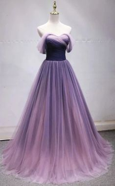 Prom party dresses - Simple Sweetheart Neck Long Prom Dress, Evening Dress With Sleeve from Sweetheart Dress – Prom party dresses Ombre Prom Dresses, Cute Prom Dresses, Tulle Prom Dress, Dress Up, Bridesmaid Dresses, Simple Dresses, Gown Dress, Purple Ball Dresses, Long Purple Dress