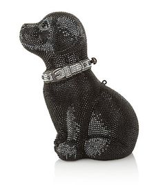 Judith Leiber Puppy Sequin Clutch Bag - Judith Leiber's Labrador retriever puppy minaudière features semiprecious onyx eyes and a sparkling crystal studded collar. The perfect addition to evening wear, this intricately detailed clutch bag is a true statement accessory.