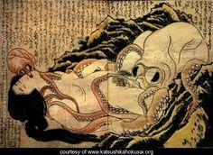 Dream of the fishermans wife Hokusai. no Hokusai, no! no matter how much I admire thee Critique Cinema, Art Occidental, Octopus Art, Katsushika Hokusai, Art Japonais, Sea Monsters, Japanese Prints, Japan Art, Illustrations