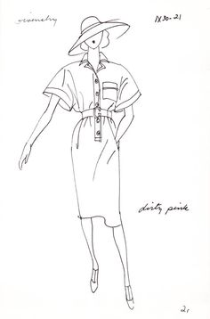Original Haute Couture Vintage Fashion Sketch Stat by AwesomeMema