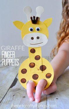 Aprende a crear una marioneta jirafa con cartulina.#manualidadesinfantiles #manualidadesniños #DIY #pinturas #vamosadivertirnos #diversionasegurada #niñosartistas