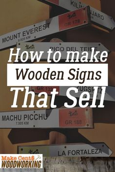 Easy Woodworking Projects If you're looking to make some extra money with your woodworking hobby, check out these woodworking ideas where you can make wooden signs that sell. Woodworking Ideas To Sell, Learn Woodworking, Popular Woodworking, Teds Woodworking, Woodworking Crafts, Woodworking Furniture, Woodworking Videos, Woodworking Workshop, Woodworking Inspiration