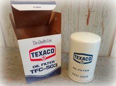 vintage texaco oil filter / gas station car by AntiqueShopGirl